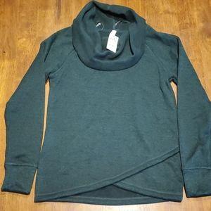 Ideology Green Cowl-Neck Sweatshirt - Medium